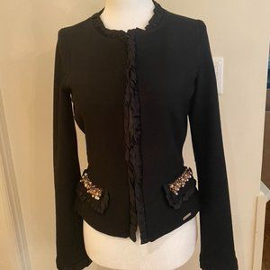 Rinascimento Sweater Jacket with trim and bead embellishments